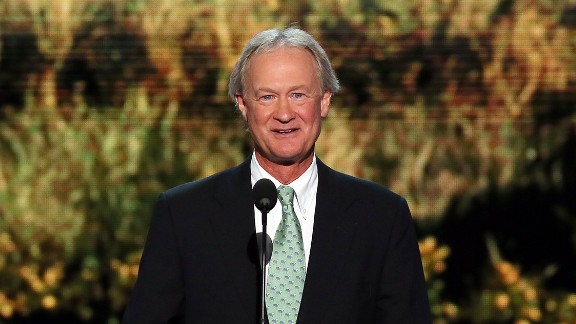 Lincoln Chafee speaks during the Democratic National Convention on September 4, 2012, in Charlotte, North Carolina.