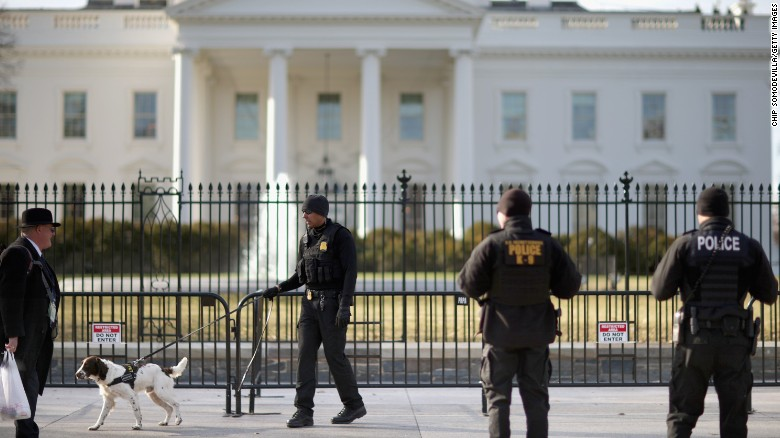 Man jumps over White House fence at night