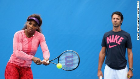 The busy life of Serena's coach
