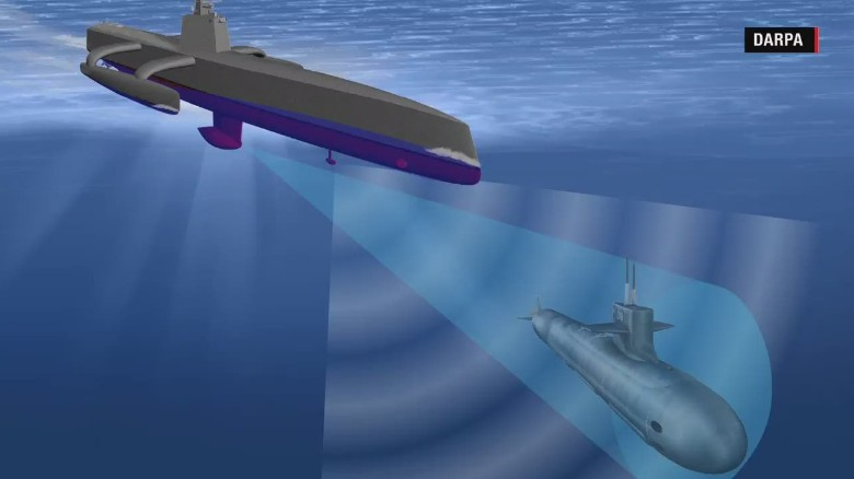 u s navy tests new submarine hunting drone ship cnn