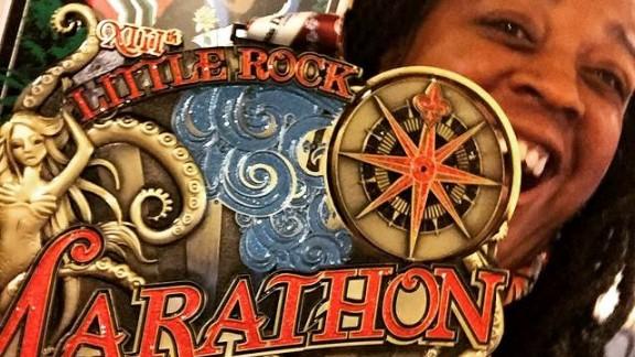 Little Rock Marathon medal. Weighs over 3 pounds!