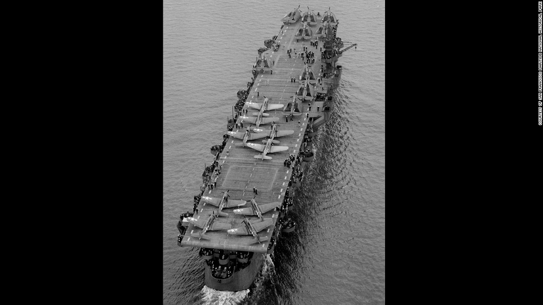 The USS Independence during World War II.