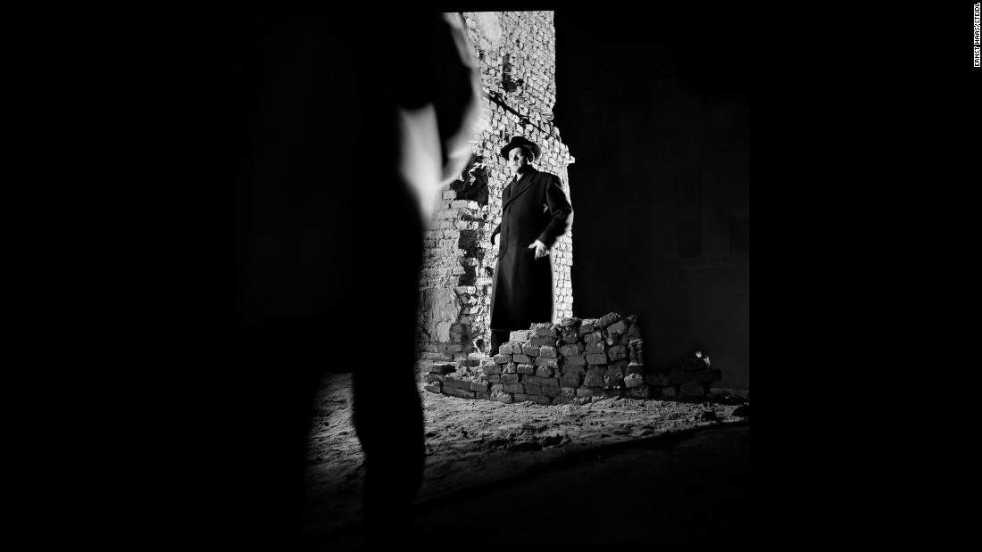 "In this photo from 1949's ""The Third Man,"" Orson Welles is hemmed in by darkness in a way that suggests the film's shadowy themes."
