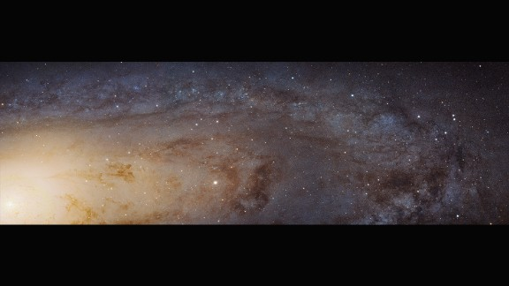 One of the closest neighbors to our own Milky Way, the Andromeda Galaxy, can be seen with the naked eye if you know where to look on a clear, dark night. In 2012, scientists using data from Hubble predicted Andromeda would collide with the Milky Way in about four billion years. Andromeda is 2.5 million light years from Earth.
