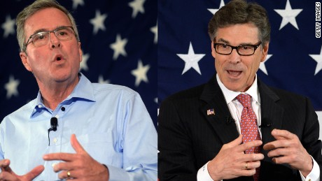 Bush, Perry test their mettle in New Hampshire