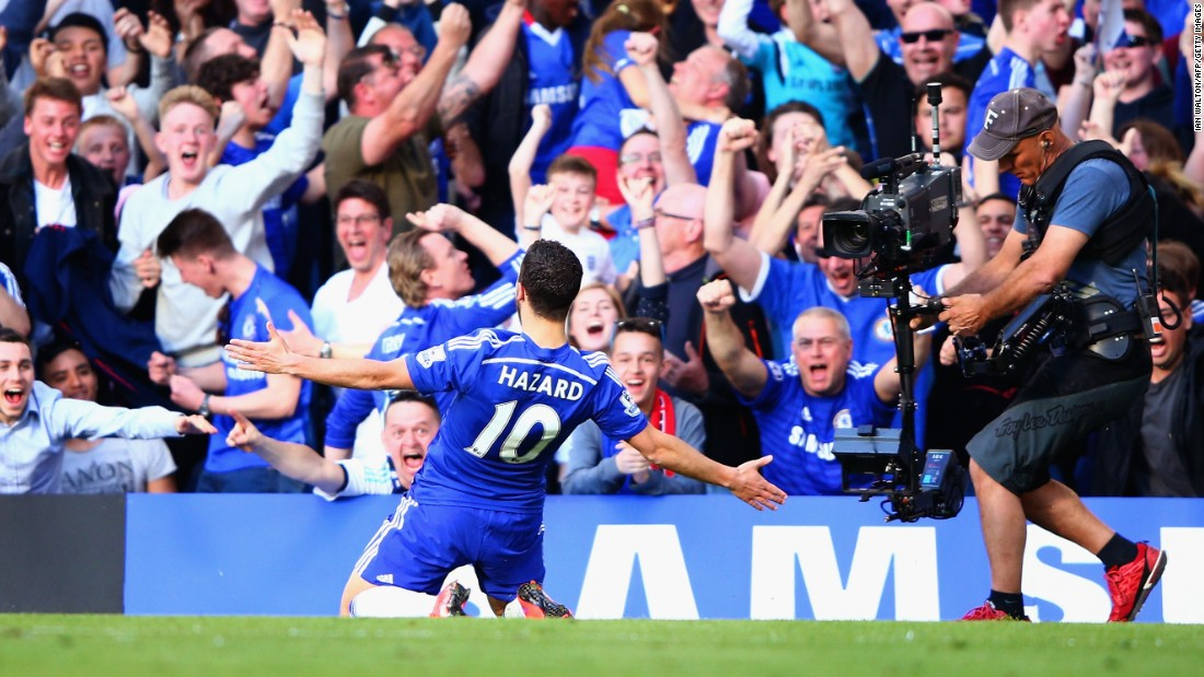 Chelsea opened the scoring as halftime approached through Eden Hazard.