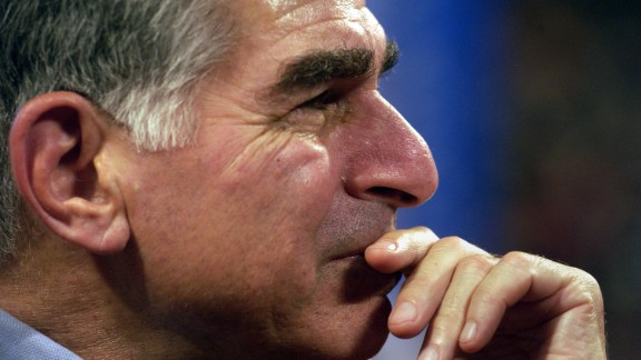 Former Massachusetts Governor and one time presidential candidate Michael Dukakis listens to speeches July 28, 2004, at the FleetCenter during the third day of the Democratic National Convention in Boston. (Photo by Darren McCollester/Getty Images)
