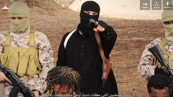 A still from the latest ISIS propaganda video.