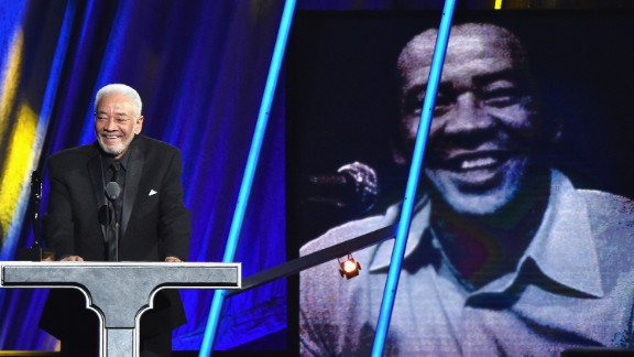 """Singer-songwriter Bill Withers, whose hits include  """"Lean on Me,"""" """"Ain't No Sunshine,"""" and """"Just the Two of Us,"""" was among the performers inducted Saturday into the Rock And Roll Hall Of Fame."""