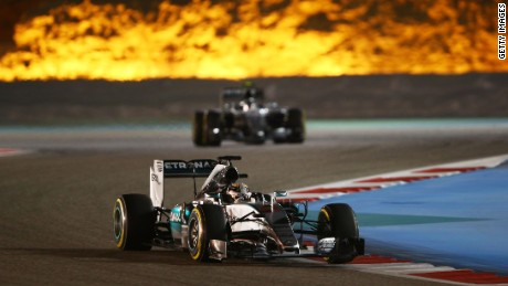 Hamilton cruised to victory in the Bahrain GP, despite losing his brakes on the final lap.