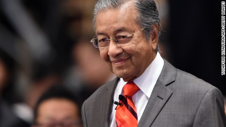"Former Malaysian prime minister Mahathir bin Mohamad arrives to hold a dialogue session in the 20th International Conference on the Future of Asia in Tokyo on May 22, 2014. The two-day conference was held with the theme of ""Rising Asia - Messages for the Next 20 Years.""            AFP PHOTO/Toshifumi KITAMURA        (Photo credit should read TOSHIFUMI KITAMURA/AFP/Getty Images)"