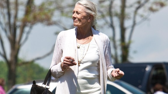 Vanessa Redgrave attends the funeral services for actress Lynn Redgrave at St. Peter