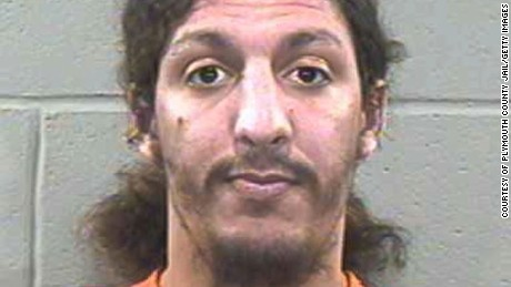 This police mug shot shows 28-year-old alleged shoe bomber Richard Reid after his arrest December 24, 2001, in Plymouth, Massachusetts. Reid plead guilty October 4, 2002, in Boston, to all eight counts levied against him on charges relating to his attempt to ignite explosives in his shoes while aboard American Airlines flight 63.
