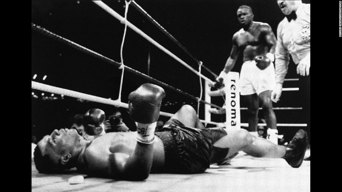 """Buster"" Douglas was responsible for what is seen my many as boxing's single greatest upset.  <br /><br />In 1990 the journeyman from Columbus, Ohio challenged Mike Tyson having only fought for a title once in his career -- a loss to Tony Tucker for the IBF Heavyweight strap. Tyson was in imperious form, undefeated in 37 fights and holder of the WBA, WBC and IBF titles.<br /><br />Douglas' mother had died during his training camp and he entered the ring a heavy 42-1 against, with many casinos not even allowing bets to be placed. However the man from Ohio dominated, closing Tyson's left eye in the fifth round. Tyson rallied with a knockdown in the eighth, but was floored by Douglas in the 10th, flat out and unable to recover, the first and most shocking defeat of his career.<br />"