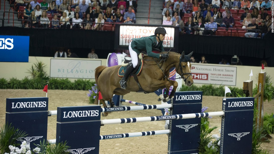 It was also Switzerland's Steve Guerdat's lucky day, triumphing in the 37th FEI World Cup Jumping final.