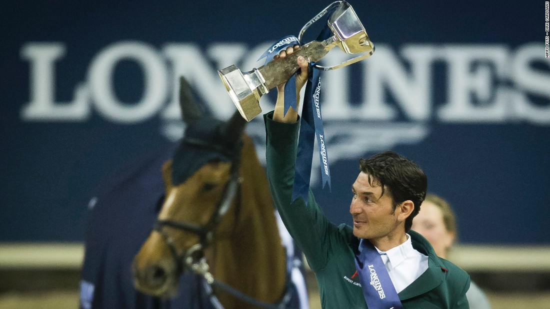 """You need a little bit of luck"" said Guerdat, who's stood on the podium three times in second and third place, ""You have to keep believing in yourself and your horse and if you come so close so many times you deserve to win it one time!"""