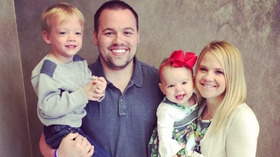 """In 2015, Chris and Amy Skaggs shared how they endured """"IVF, international adoption, domestic adoption, birth, death and even a donor"""" on their journey before having Jaxon and Olivia."""