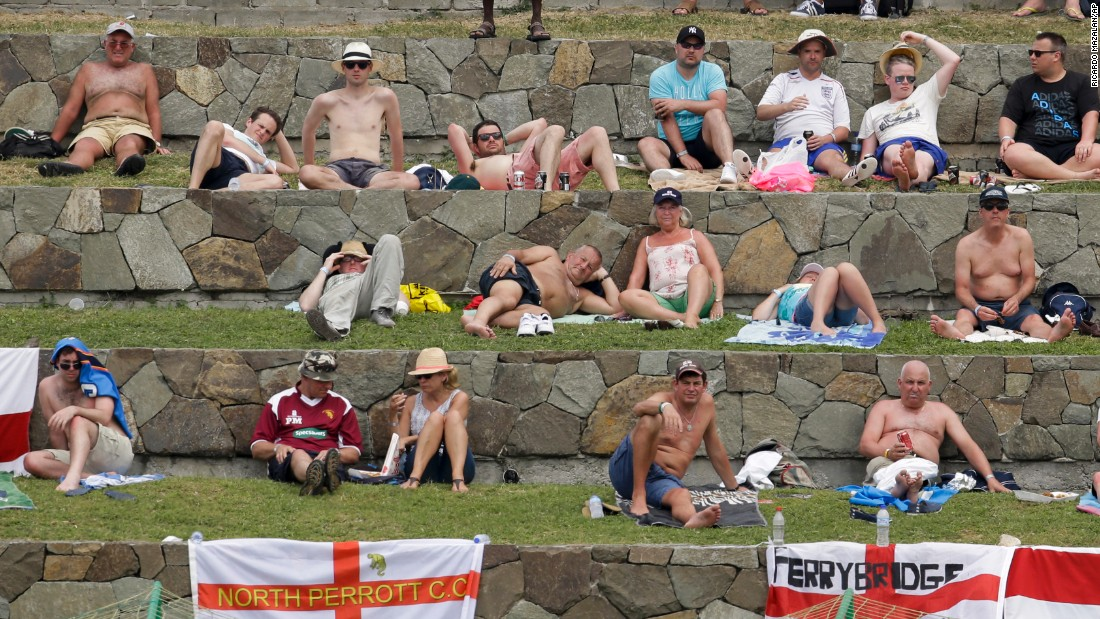 "Spectators in Antigua watch a Test cricket match between England and the West Indies on Thursday, April 16. <a href=""http://www.cnn.com/2015/04/14/sport/gallery/what-a-shot-sports-0414/index.html"" target=""_blank"">See 36 amazing sports photos from last week</a>"