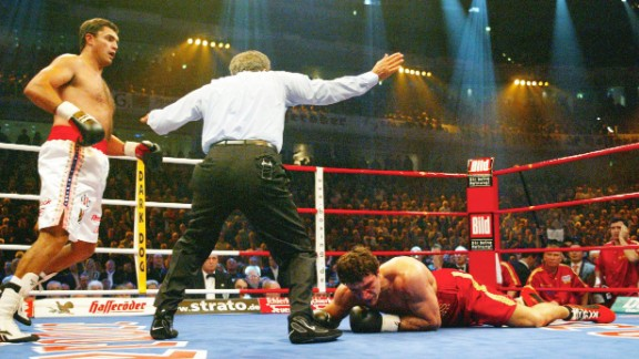 Klitschko had defended his WBO heavyweight title five times before stepping into the ring with underdog Sanders, a South African with few stand out names on his boxing record.  What was supposed to a routine victory became something of a nightmare for Klitschko, who was knocked down in the first minute of the first round. A second knock down followed, then in the second round a third, then a fourth. The champion was put out of his misery by the referee, Klitschko left face down on the canvas and pondering how it had all gone so wrong.