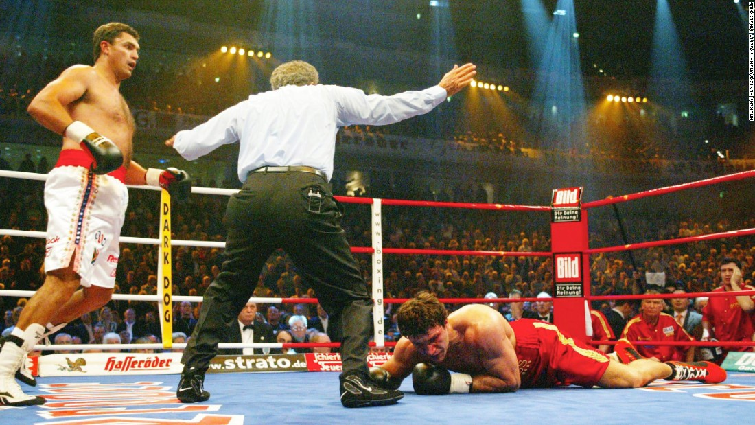 Klitschko had defended his WBO heavyweight title five times before stepping into the ring with underdog Sanders, a South African with few stand out names on his boxing record.<br /><br />What was supposed to a routine victory became something of a nightmare for Klitschko, who was knocked down in the first minute of the first round. A second knock down followed, then in the second round a third, then a fourth. The champion was put out of his misery by the referee, Klitschko left face down on the canvas and pondering how it had all gone so wrong.