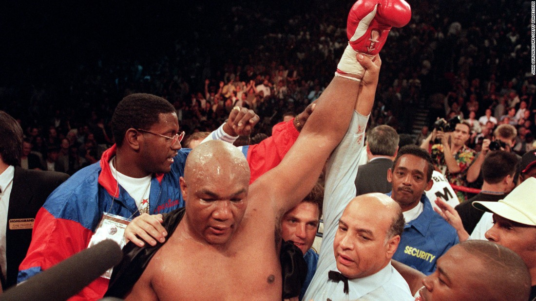 "Until Bernard Hopkins' career renaissance, George Foreman was the undisputed comeback king of boxing.<br /><br />Foreman was coming off the back of a loss; he had not held a world title since ""The Rumble in the Jungle"" with Ali, twenty years previous. Moorer was the IBF and WBA champion and at his peak, slick and devilishly quick. <br /><br />For 10 rounds Moorer ran Foreman ragged, with the elder statesman of the ring unable to land a punch. And then -- in the words of HBO commentator Jim Lampley -- ""it happened."" A huge right hand landed flush on Moorer's jaw, breaking his mouth guard and sending the champion straight to the canvas.<br /><br />At 45 years old Foreman was the oldest heavyweight champion the world had ever seen, whilst laying some demons to rest in the process.<br />"