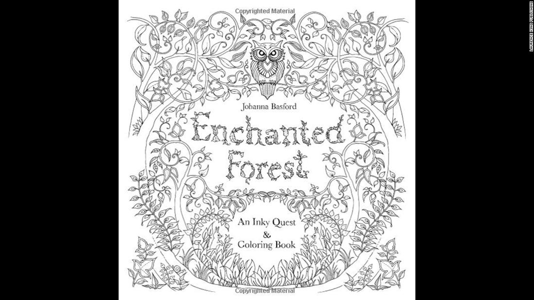 "Illustrator Johanna Basford's second book, ""<a href=""http://www.amazon.co.uk/Enchanted-Forest-Inky-Quest-Colouring/dp/1780674872/ref=pd_sim_b_1?ie=UTF8&refRID=1VVBHG6Z0VPHHZMCPC6J"" target=""_blank"">Enchanted Forest</a>,"" also made the bestseller lists."