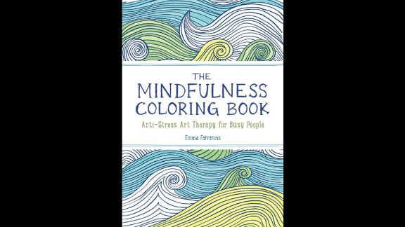 """""""The Mindfulness Colouring Book: Anti-stress art therapy for busy people"""" by Emma Farrarons is high on the Amazon UK bestselling books list."""