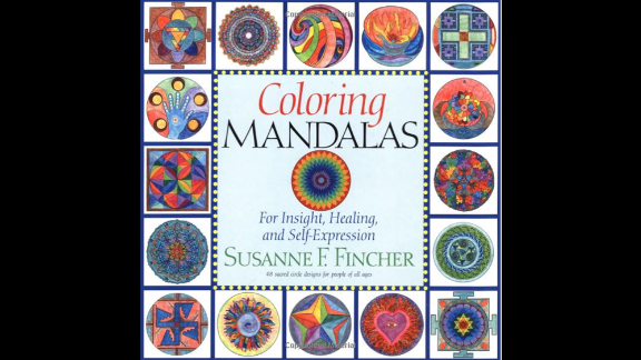 """Art therapist Susanne Fincher uses her own coloring books, such as """"Coloring Mandalas 1"""" as """"homework"""" for patients to maintain continuity between their therapeutic visits."""