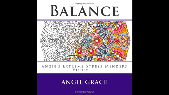 """Relieving stress and restoring calm are common themes on the adult coloring book market. """"Balance (Angie"""