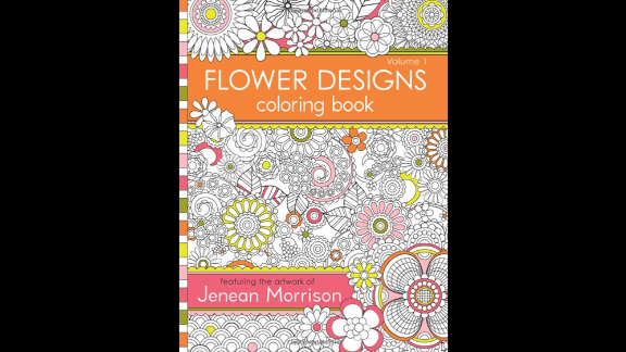 """Intricate designs are a hallmark of adult coloring books. """"Flower Designs Coloring Book (Volume 1)"""" by Jenean Morrison offers painstakingly detailed floral designs to fill in."""