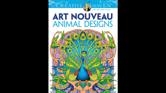 """Design-minded grownups can find many fine-art and design-themed coloring books to satisfy their inner creative. """"Dover Creative Haven Art Nouveau Animal Designs Coloring Book"""" by Marty Noble and Creative Haven is one title."""