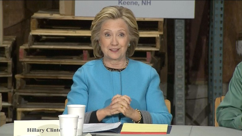 Hillary Clinton back in New Hampshire