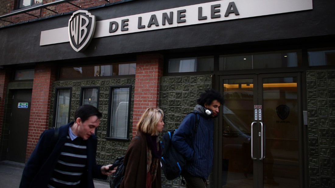 "People walk past the offices for De Lane Lea media company in Soho on January 16, 2015 in London, England. Soho is the epicenter of the UK's world-class film and television post-production industry. Famously, companies in the area worked on Oscar-winner ""Gravity"" and the ""Harry Potter"" franchise."