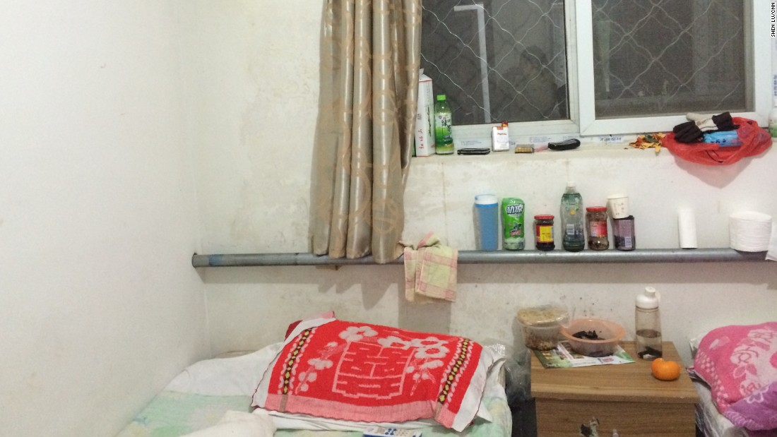Liu Dajiang and his wife, who has been diagnosed with cervical cancer, rent this room. They've stayed in the hotel while she's undergone surgery, chemotherapy and radiotherapy at the Beijing Cancer Hospital.