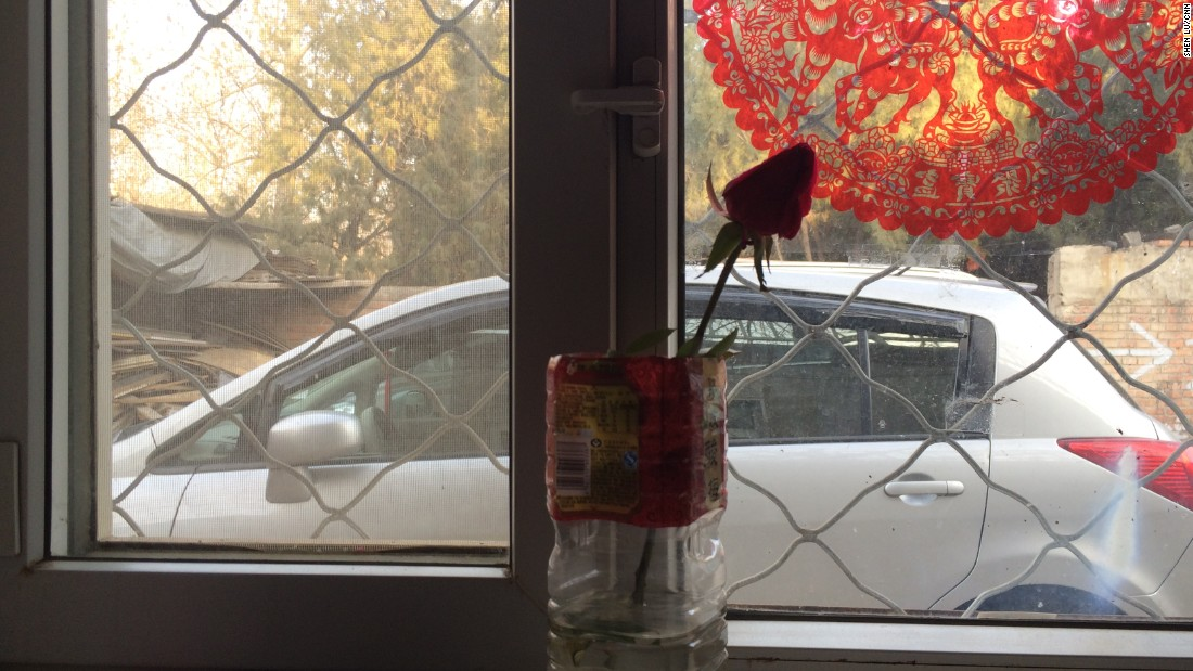 "A dried rose sits in a vase in another patient's room. ""I bought a bouquet. The others all withered away,"" said the wife of the patient. ""We need something to cheer us up."""