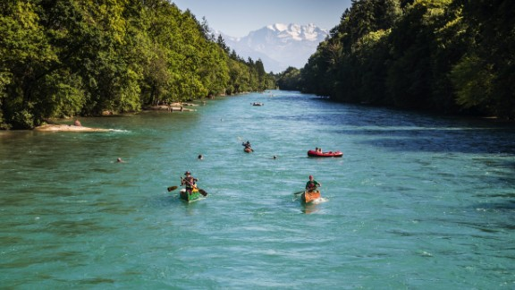 Switzerland is the happiest country in the world, according to the latest World Happiness Report. What could be happier than a trip to the capital city of Bern for a spring or summer paddle down the River Aare?
