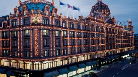 The famous Harrods store in Knightsbridge, London.