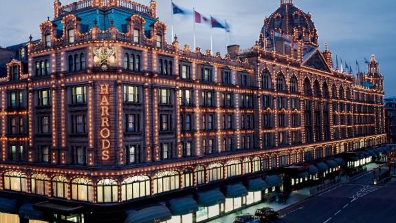 The famous Harrods store in Knightsbridge, London.