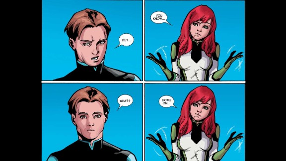 """Mind-reading mutant Jean Grey tells Bobby """"Iceman"""" Drake that she knows the truth about his sexuality."""