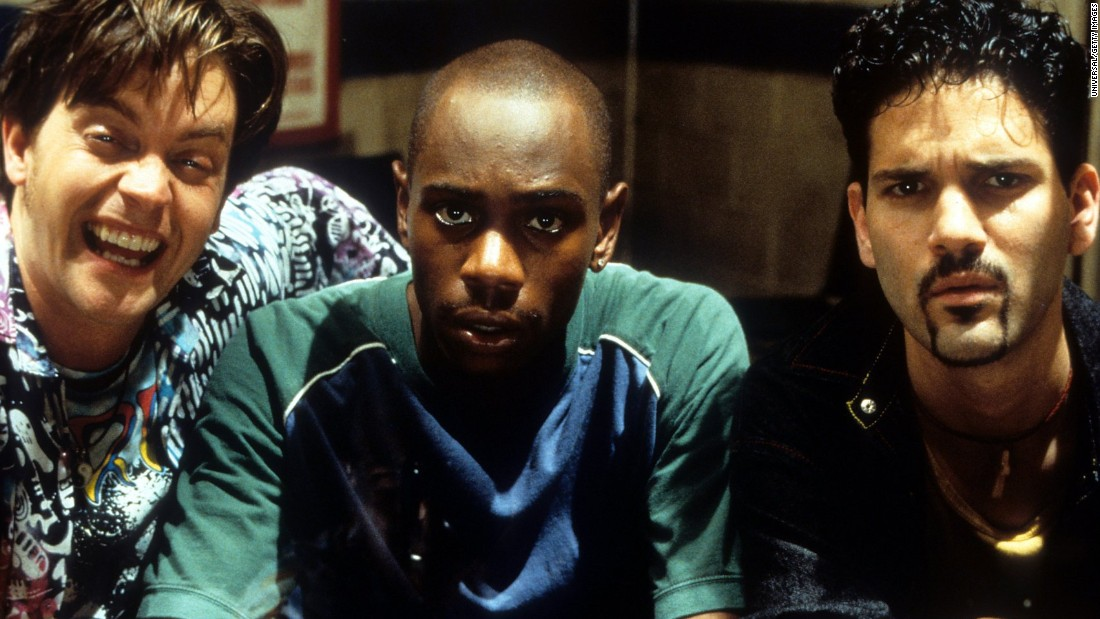 "From left to right, actors Jim Breuer, Dave Chappelle and Guillermo Díaz in the 1998 movie ""Half Baked."""