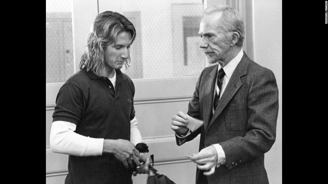 "In the 1982 movie ""Fast Times at Ridgemont High,"" Sean Penn plays a carefree stoned surfer and Ray Walston plays Mr. Hand, a stern history teacher.   <br />"