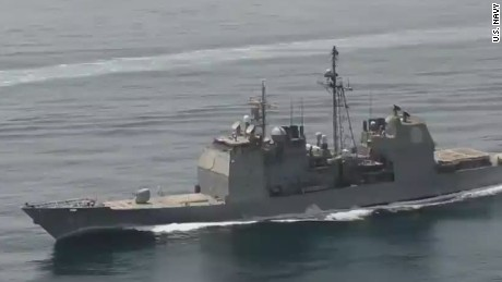 Iranian vessels heading closer to U.S. warships