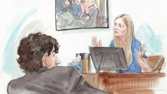 """""""I was terrified that I was going to die. I did not know that I could be that injured and survive,"""" Boston Marathon bombing victim Gillian Reny testified in the sentencing phase of Dzhokhar Tsarnaev"""