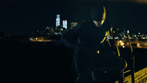 Charlie Cox plays Matt Murdock, who spends his nights cleaning up the New York neighborhood of Hell's Kitchen.