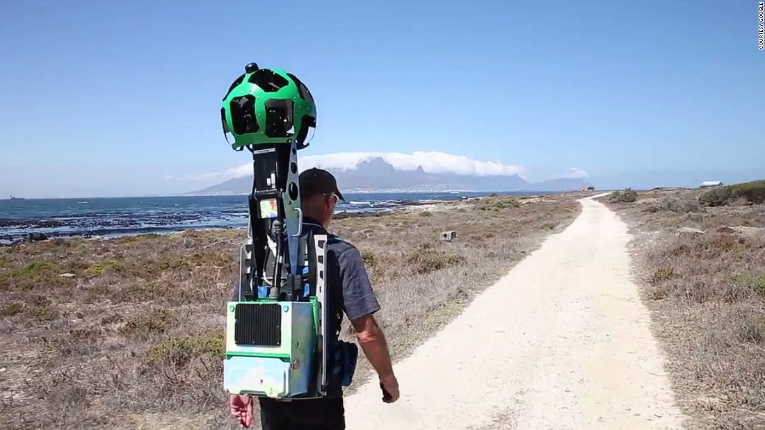 Google trekkers toured the island and prison with their cameras for four- to five-hour stretches to capture the scenery.