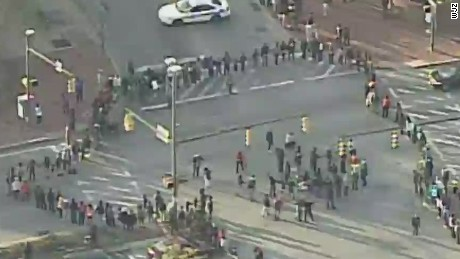 tsr live todd baltimore protesters block major intersection_00002919