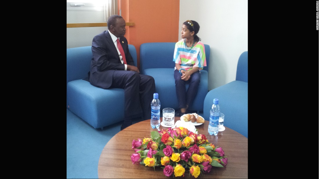 Another day, another interview -- this time with Uhuru Kenyatta, the president of Kenya.
