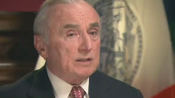 New York City Police Commissioner William Bratton says 86% of his officers had no complaints against them.