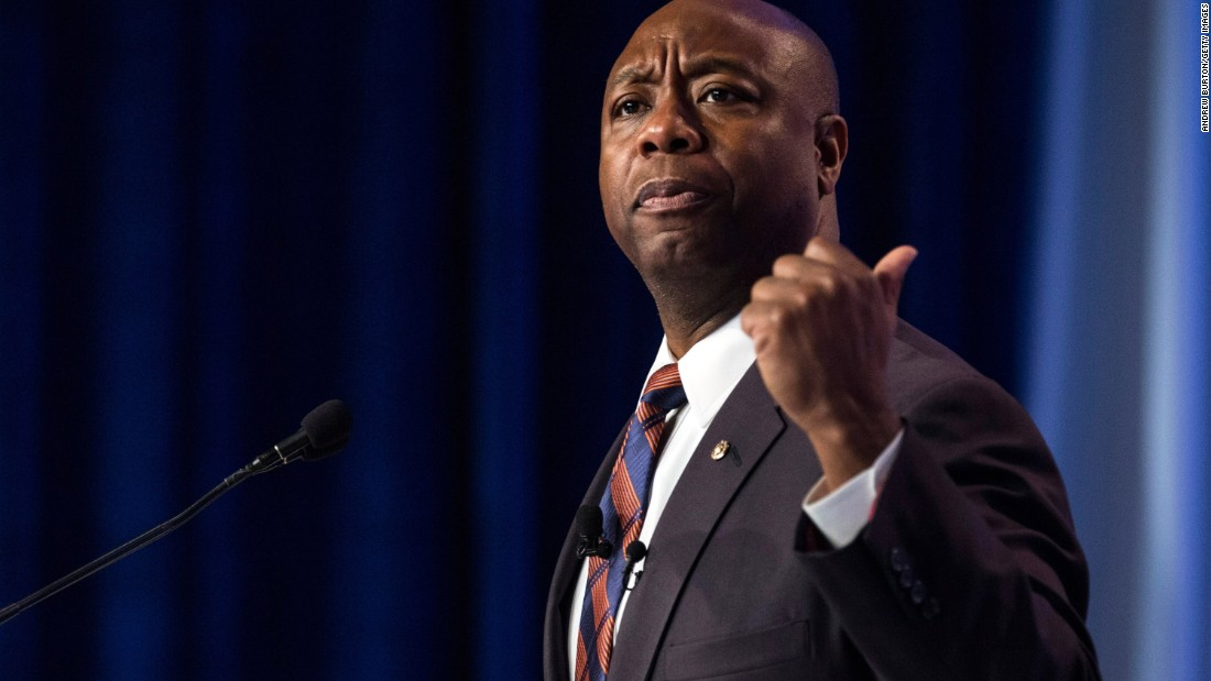 Republican U.S. Sen. Tim Scott also delivered a commencement address at the University of South Carolina on May 9.