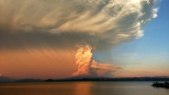The eruption could be seen clearly from Puerto Varas, a popular vacation destination.